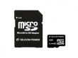Silicon Power MicroSDHC 4GB CL4 + SD adapter